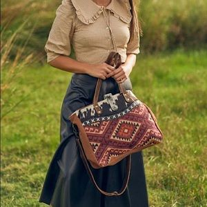 Myra Bag™️ Southwestern Messenger Bag (Hair-On)